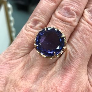 14kt Gold Antique 15.5ct Synthetic Alexandrite